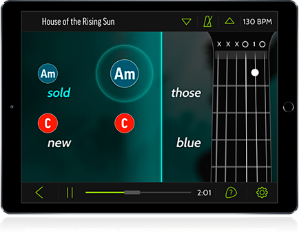 FourChords is the fast, easy way to play the songs you love on guitar.
